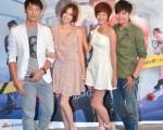 華劇《剩女保鏢》首場特映會,主要演員袁艾菲、李李仁、黃鴻升與孟耿如現身。 (圖/三立提供)