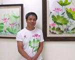 李建星繪畫風格受到藝術界的肯定,畫作倍受收藏家賞識。 (攝影:徐乃義/大紀元)