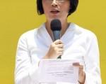 台湾法轮功人权律师朱婉琪(摄影:潘在殊/大纪元)