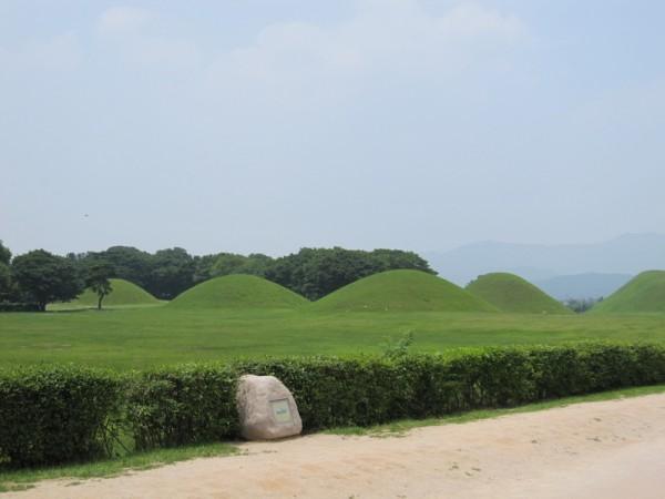 庆州市内随处可见高高低低的韩国金字塔