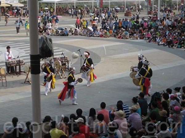 韓國傳統舞蹈(圖片來源:作者提供)
