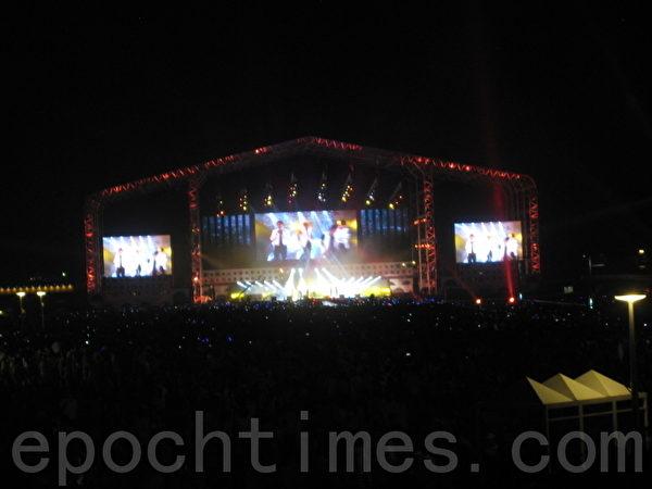 K-Pop音樂會屏幕(圖片來源:作者提供)