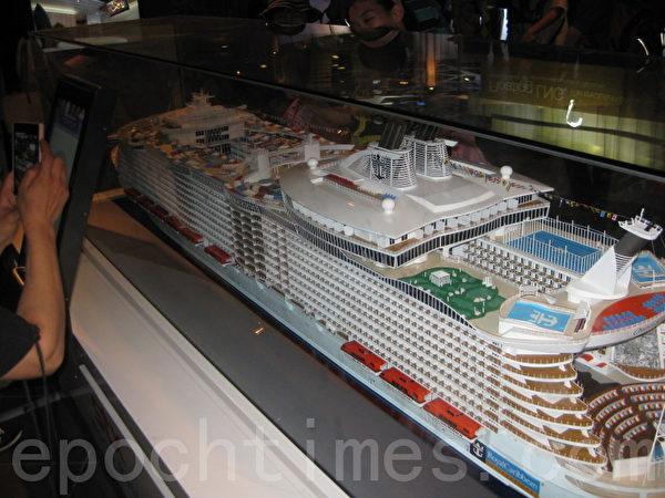 世界最大遊艇模型(圖片來源:作者提供)