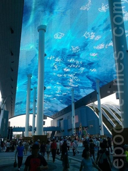 世博數位畫廊(圖片來源:作者提供)