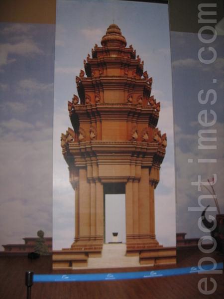 柬埔寨展館中畫像(圖片:作者提供)