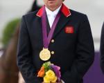 54岁的斯盖尔顿是40多年来英国年龄最大的奥运金牌得主。  (Photo by Alex Livesey/Getty Images)