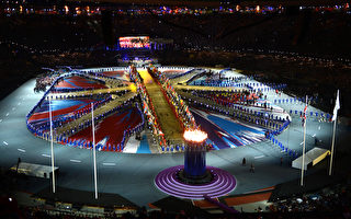 8月12日晚伦敦奥运盛大的闭幕式( AFP PHOTO / FRANCK FIFE)