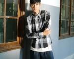 新人李唯楓出身綜藝節目《大學生了沒》,身高184公分,從綜藝咖變身型男。(圖/福茂提供)