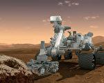 美國宇航局2012年8月1日提供的火星科學實驗室MSL好奇號探測車模擬圖像,這座移動機器人正擔任研究火星的過去或現在有無微生物生命的可能。(NASA)