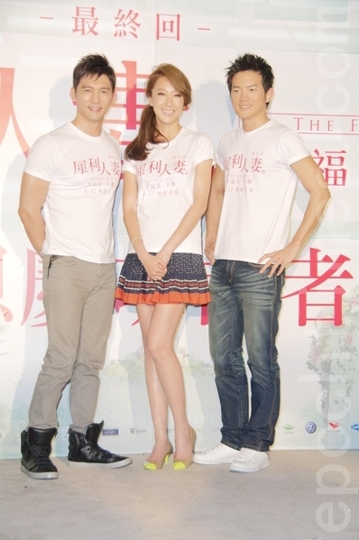 (左起)宥胜、隋棠、温昇豪。(摄影:黄宗茂/大纪元)