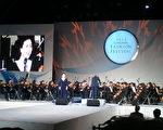 韓國的一場音樂會上,高音女歌手演繹詠歎調。(作者提供)