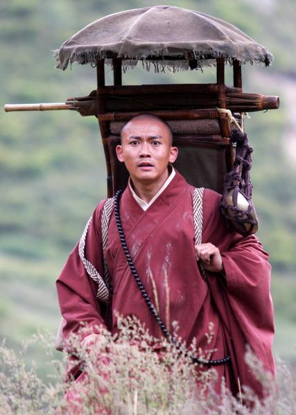 在《西遊記》戲中飾演唐三藏的第一小生聶遠。(圖/民視提供)