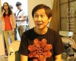 電影《不能沒有你》裡擔任男主角的陳文彬,首度在中州科大任教。(攝影:郭益昌/大紀元)