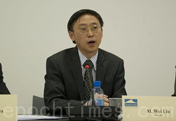 英国大纪元主编刘伟先生。(摄影:董韵/大纪元)