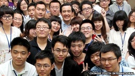 BBC特写:台湾民主改造中国学生?