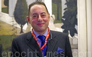 欧洲议会第一副主席乔瓦尼•皮特拉(Giovanni Pittella)先生对联合国日前延长叙利亚阿萨德政权的调查决定表示支持,并称,欧洲议会和联合国应该更多支持叙利亚反对党。(摄影:孙华/大纪元)