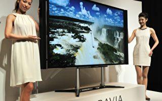 日本電子消費產品製造商發現自己在競爭中的處境越來越危險,無法追上數字世界中的平板電腦和智能手機的發展。圖為2012年9月27日,索尼推出84英寸液晶電視。(YOSHIKAZU TSUNO / AFP)