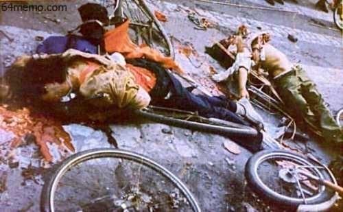 1989年,中共出動軍隊,血腥屠殺學生。(六四網站圖片)