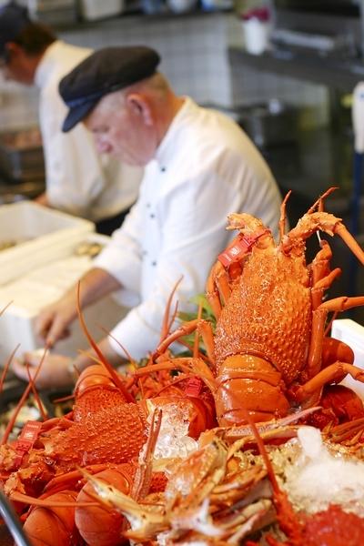 新鲜龙虾食材。(图片提供:Cyren)