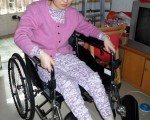 坐在輪椅上的趙風霞(近照)(圖片來源:明慧網)