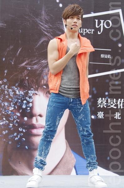 蔡旻佑相隔三年沒發片,推出新專輯,歌迷依舊力挺。(攝影:黃宗茂/大紀元)