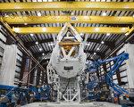 加州SpaceX公司的飞龙太空舱(Dragon capsule)对国际空间站进行补给飞行。(NASA/AFP)