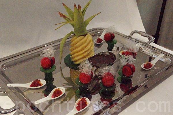 蓋薩達的大作:甜點(攝影:李歸燕/大紀元)