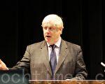 10月19日,伦敦市长鲍里斯•约翰逊(Boris Johnson)向来自伦敦教育界的上百位代表,宣布了他的雄心计划,要在2020年之前使伦敦成为在教育上世界领先城市。 (摄影:李莹/大纪元)