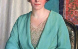 賽珍珠年輕油畫畫像。畫於1933年。(賽珍珠國際組織提供)