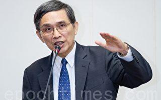 经济部长施颜祥12日表示,水患治理属于长期性工作,应回归地方自治制度。(摄影:陈柏州/大纪元)