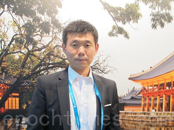 首尔观光公社营销部处长高伟诚欢迎台湾民众到首尔玩。(摄影:施芝吟/大纪元)