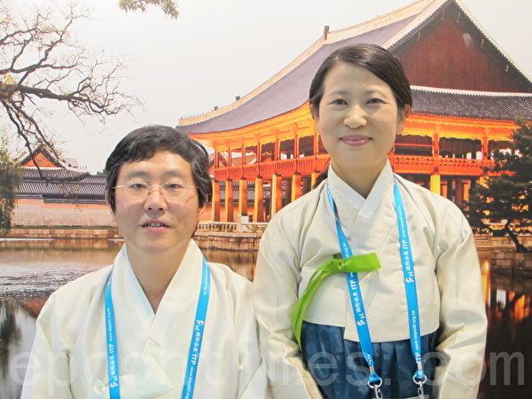 金箔宴工房的金基昊夫妇,是经五代相传至今的传统家业。(摄影:施芝吟/大纪元)