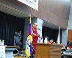 西藏流亡精神领袖达赖喇嘛,于日本国会参议院议员会馆发表题为《普遍的责任与人的价值》的演讲(摄影:吴丽丽/大纪元)