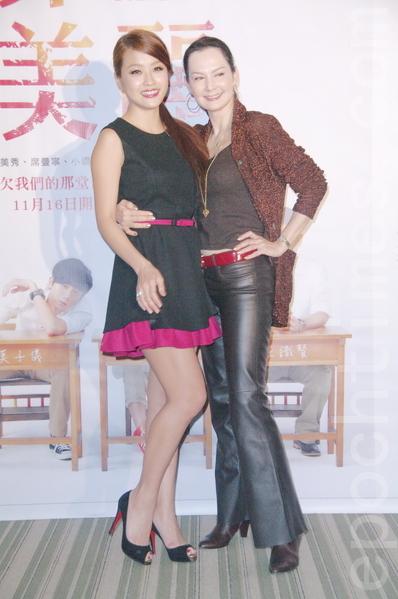 席曼宁(右)与小娴。(摄影:黄宗茂/大纪元)