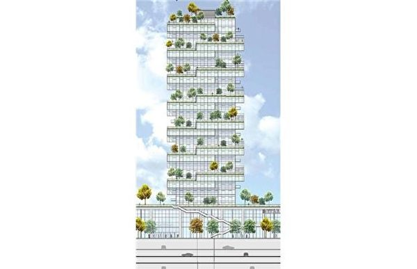 图:温哥华Oakridge中心扩展为商住社区的模型。(Oakridge提供)