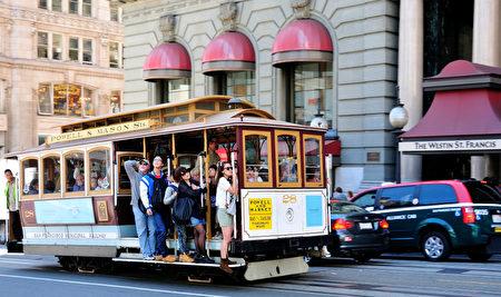 有100多年历史的旧金山缆车举世闻名(摄影:曹景哲/大纪元)