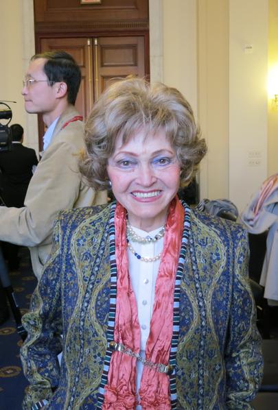 蘭托斯人權基金會主席安妮特· 蘭托斯(Annette Lantos)說, 「像高律師這樣的受到不公正對待的人士不會被人遺忘。」(攝影:林南/大紀元)