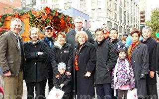 華埠聖誕樹點燈熱鬧慶祝