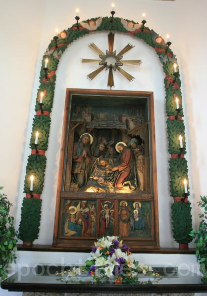 礼拜堂内的耶稣诞生圣像。 (摄影:黄芩/大纪元)