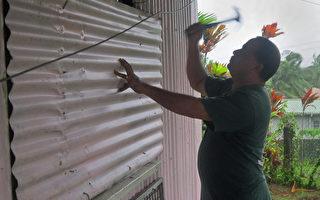 组图:四级埃文飓风过境斐济  再防洪水