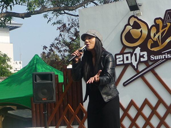 鄒族歌手高慧君將在阿里山日出印象音樂會中高歌一曲迎接2013年的第一道曙光。  (攝影:蘇泰安/大紀元)