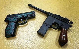 """图:南加西米谷(Simi Valley)圣苏珊娜小学(Santa Susana Elementary School) 两名学生将""""非常逼真""""的玩具枪带到校园引起报警。(西米谷警署提供)"""