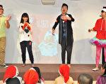 小蝦(左二)童心大起,變聲海綿寶寶、米老鼠、唐老鴨、費玉清…多位人物,嗨唱聖誕歌曲。(圖/楷模提供)