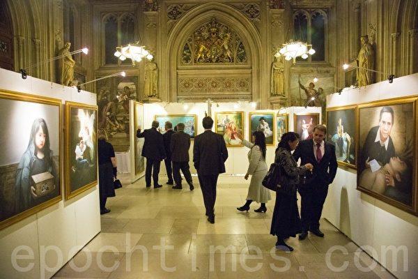 真善忍国际美展 在英国国会大厦内举行