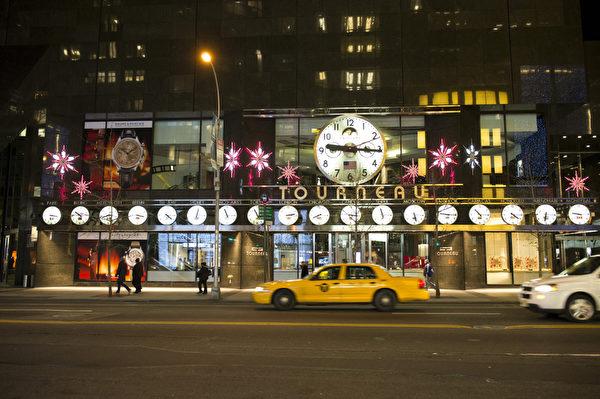纽约麦迪逊大道 TOUANEAU 圣诞橱窗秀(摄影:戴兵/大纪元)