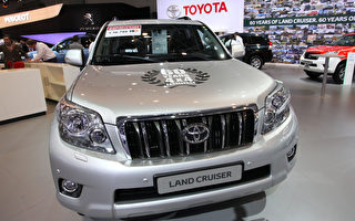 豐田Toyota展示的Land Cruiser。(Mark Renders/Getty Images)