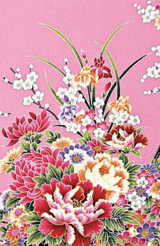 """""""锦""""的色彩多于三色,以经面缎纹为地组织纬起花,外观瑰丽多彩,花纹精细高雅。(fotolia)"""