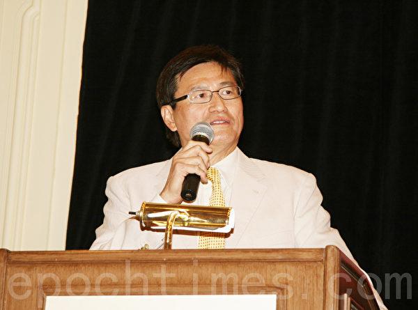图:北美洲台湾旅馆公会联合总会总会会长汪俊宇(摄影:朱江/大纪元)