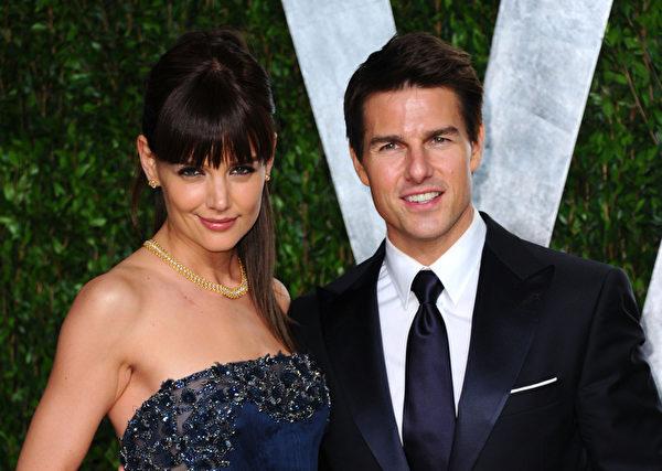汤姆‧克鲁斯与前妻凯蒂‧赫尔姆斯,他们于2012年6月底协议离婚。(图/Getty Images)