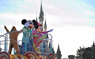 组图:东京迪士尼米奇老鼠和服花车游行
